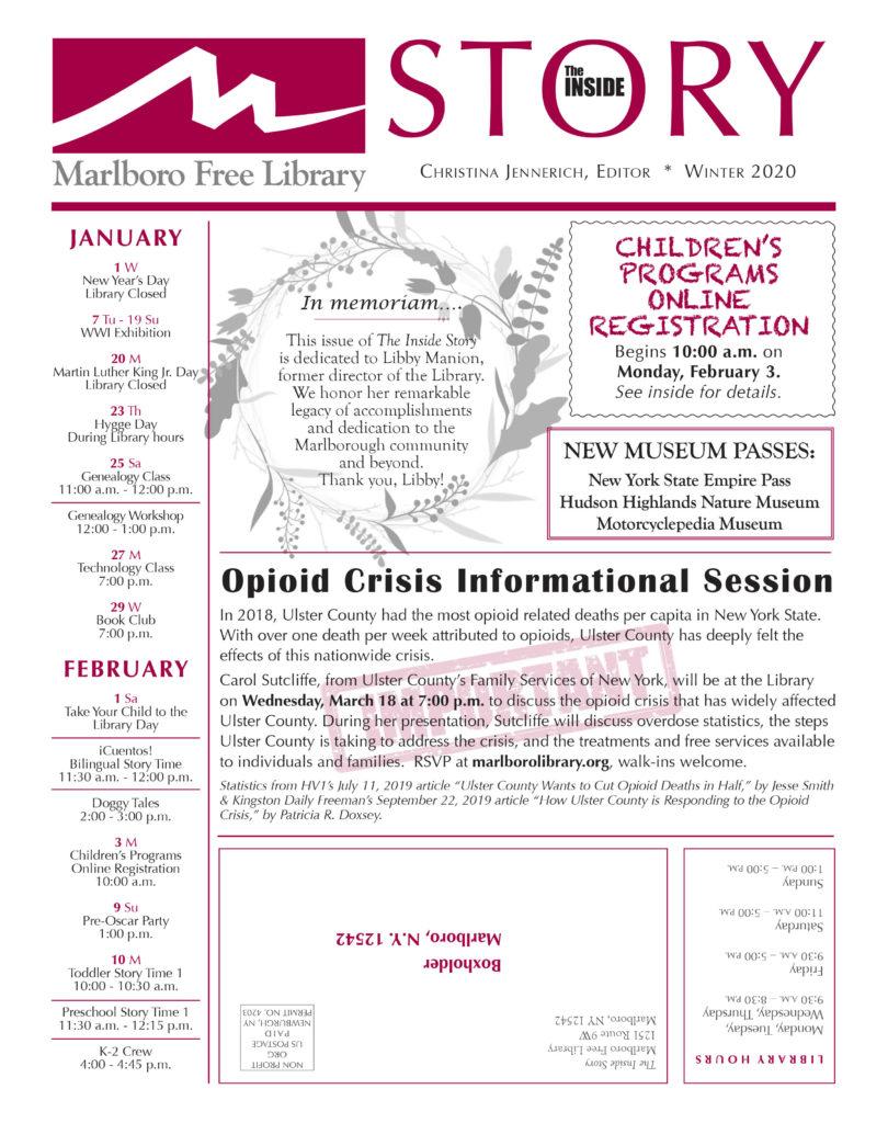 Inside Story Newsletter Winter Spring 2020