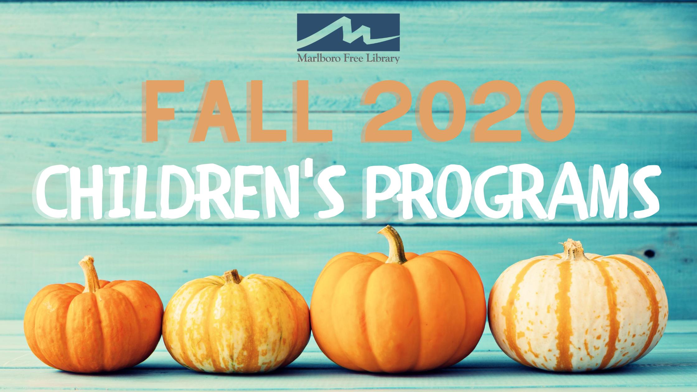 Fall Children's Programs